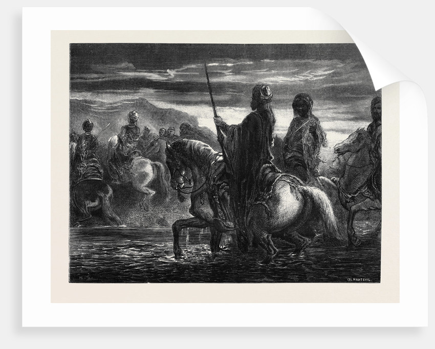 The Passage of the Ford, by Decamps; Le Passage Du Gué by Anonymous