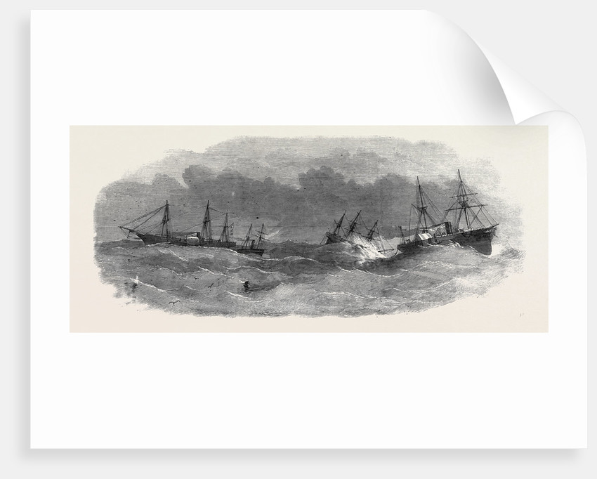 Submarine Electric Telegraph Between Newfoundland and Cape Breton: Arrival of the War Steamer Argus, after the Breaking of the Cable by Anonymous