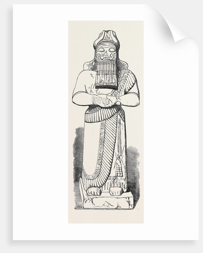 Recent Discoveries at Nineveh: Colossal Statue by Anonymous
