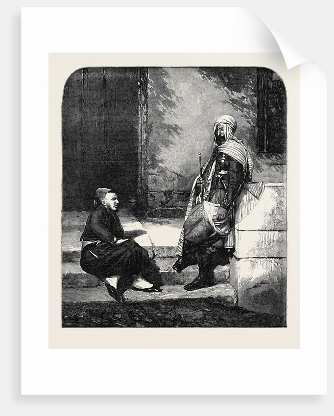 Spahi and Zouave, Personal Attendants of Marshal Pelissier, at the Seat of War. by Anonymous