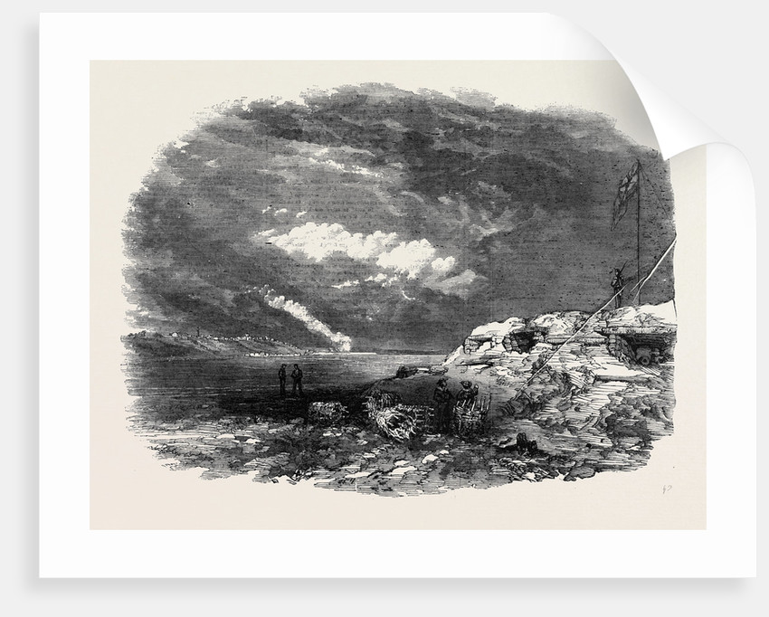 Kinburn, the Spit Battery, Otchakoff in the Distance by Anonymous