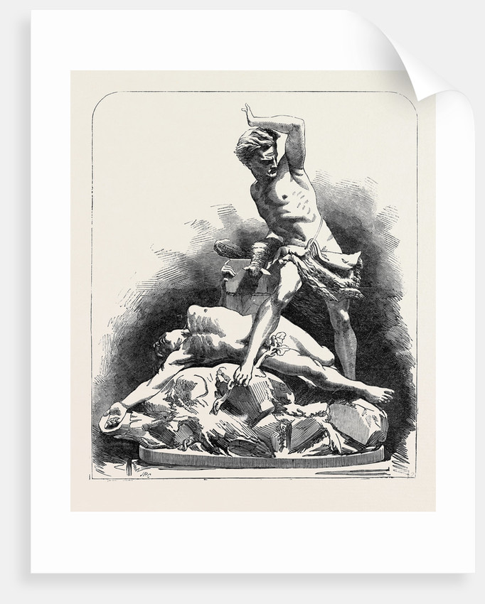 The Paris Universal Exhibition: Parian Group, Cain and Abel by Anonymous