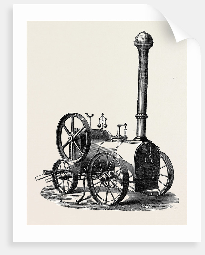 Side View of Tuxford and Sons' Prize Portable Steam Engine by Anonymous