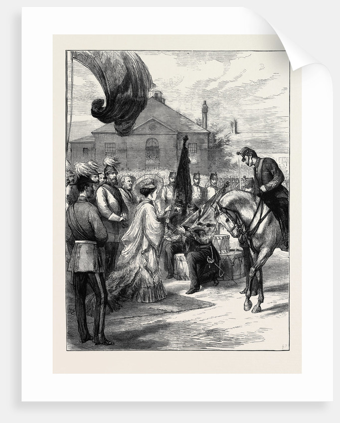 Presentation of New Colours to the 106th Regiment at Parkhurst by H.R.H. The Imperial Princess of Germany by Anonymous