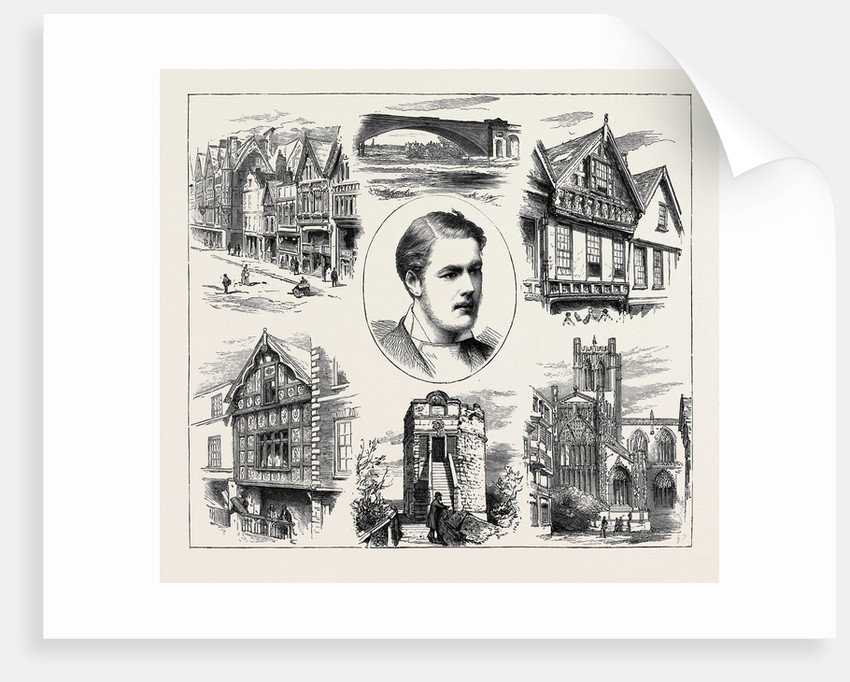 The Coming of Age of Earl Grosvenor, Views in Chester by Anonymous