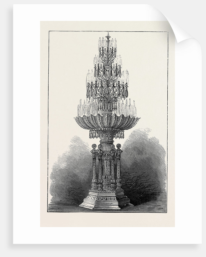 Colossal Crystal Fountain Made for the Maharajah of Puttiala, India by Anonymous