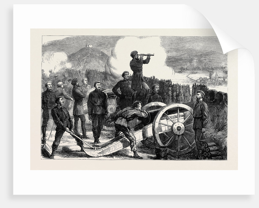 The Civil War in Spain: Don Carlos in a Battery on Mount St. Marcial Watching the Effect of a Shell by Anonymous