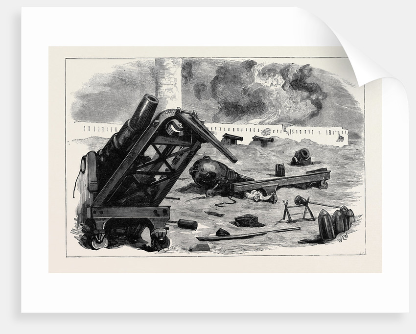 After the Bombardment of Alexandria: The Effect of the Shells from H.M.S. Superb and Inflexible on the Guns in Fort Pharos by Anonymous