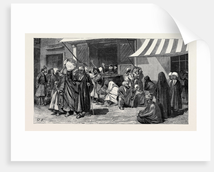 After the Burning of Alexandria: Starving Arabs and Jews Seeking Food by Anonymous