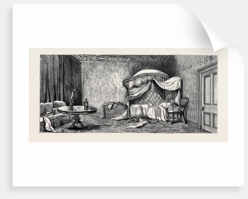 The Occupation of Alexandria: Arabi Pasha's Bedroom in the Arsenal, Now Occupied by Officers of the Navy and Marines by Anonymous
