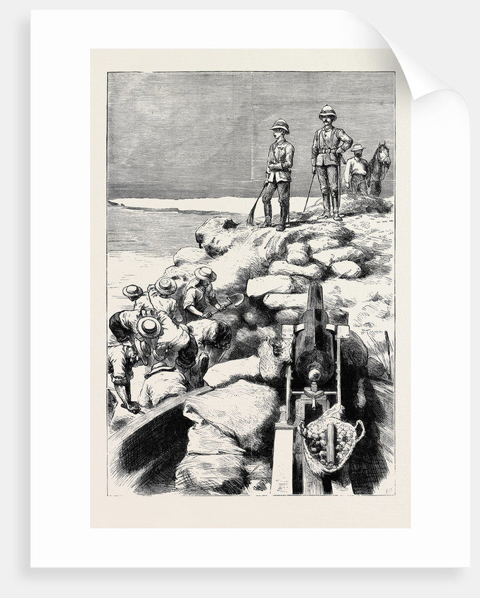 Sir Garnet Wolseley and the Duke of Teck Watching the Demolition of One of Arabi's Dams on the Sweet Water Canal by Anonymous