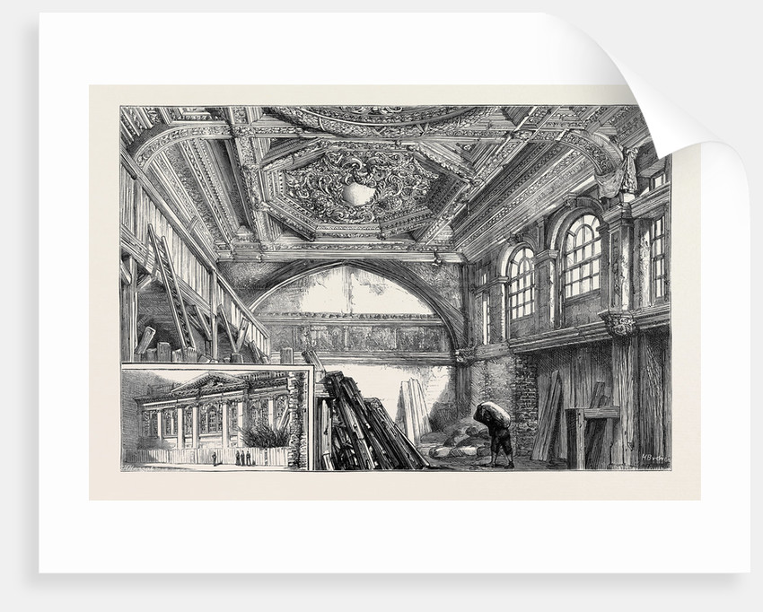 Carpenter's Hall, in the Course of Demolition: Exterior and Interior of the Hall by Anonymous