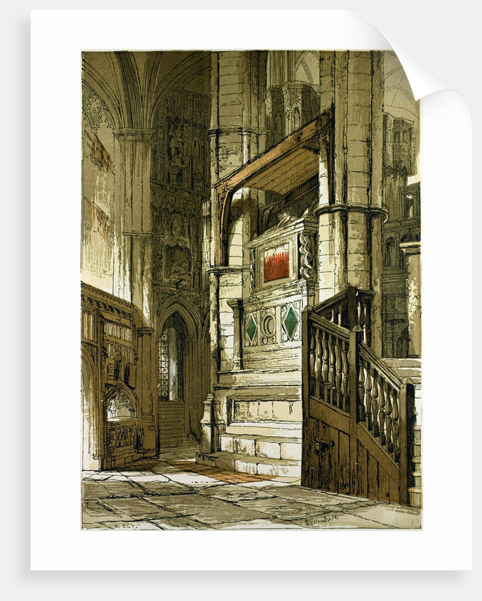 Entrance to the Chapel of Edward the Confessor UK by Anonymous