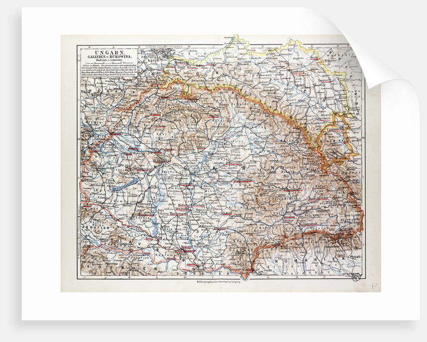Map of Hungary 1899 by Anonymous