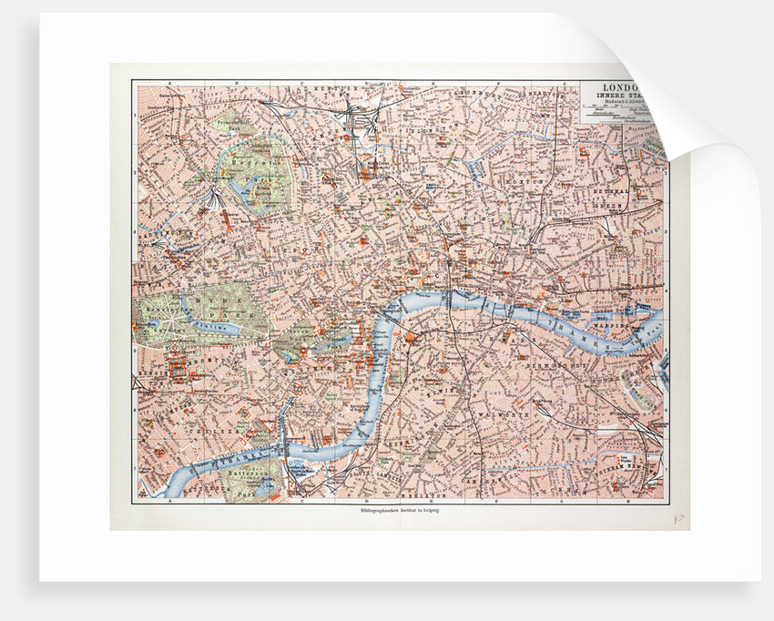 London Great Britain Map.Map Of The Centre Of London Great Britain 1899