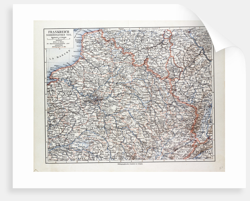 Map of the North Eastern Part of France 1899 by Anonymous