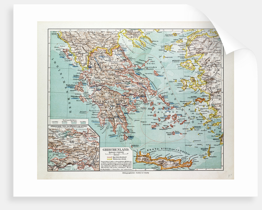 Map of Greece 1899 by Anonymous