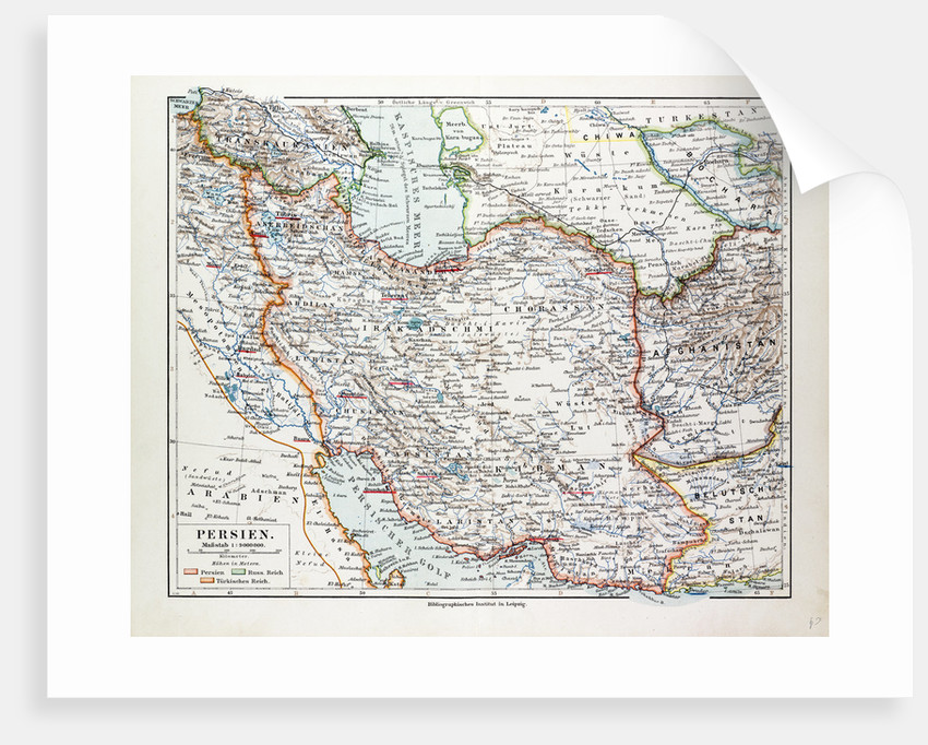 Map of Iran 1899 by Anonymous