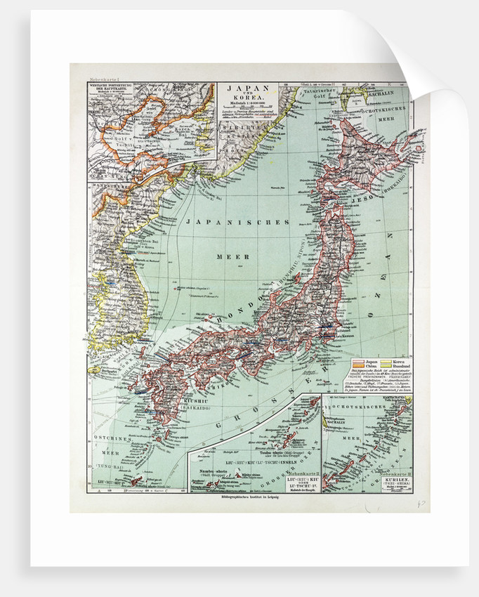 Map of Japan 1899 by Anonymous