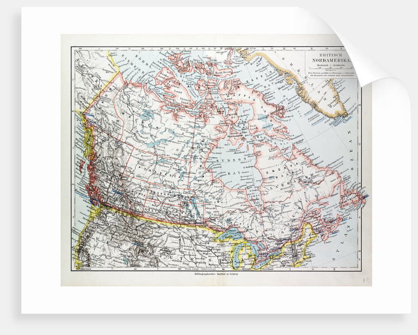 Map of Canada 1899 by Anonymous