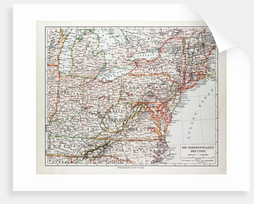 Map Of America East.Map Of The North East Of The United States Of America 1899