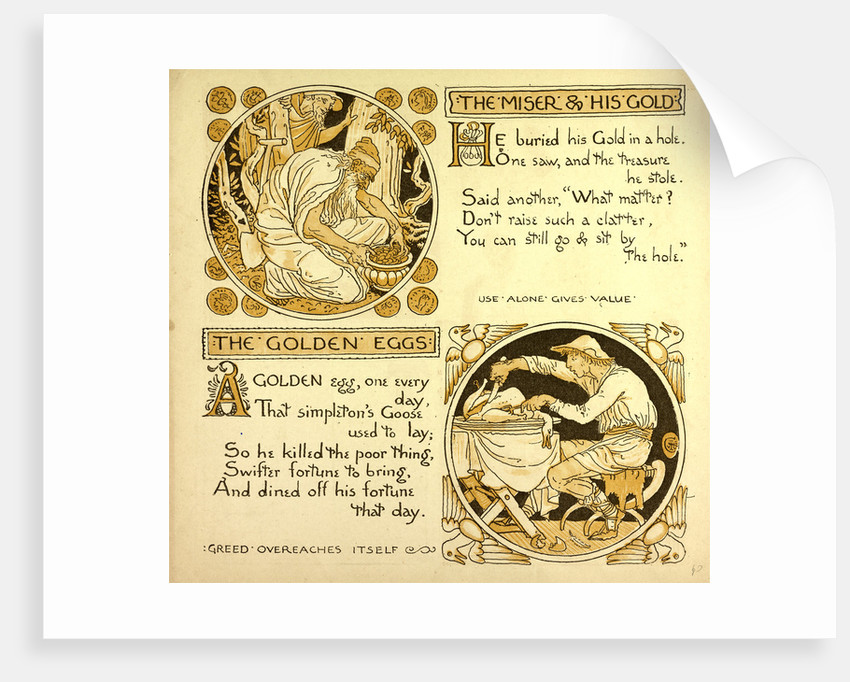 The Miser and His Gold the Golden Eggs by Anonymous