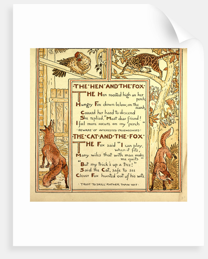 The Hen and the Fox the Cat and the Fox by Anonymous