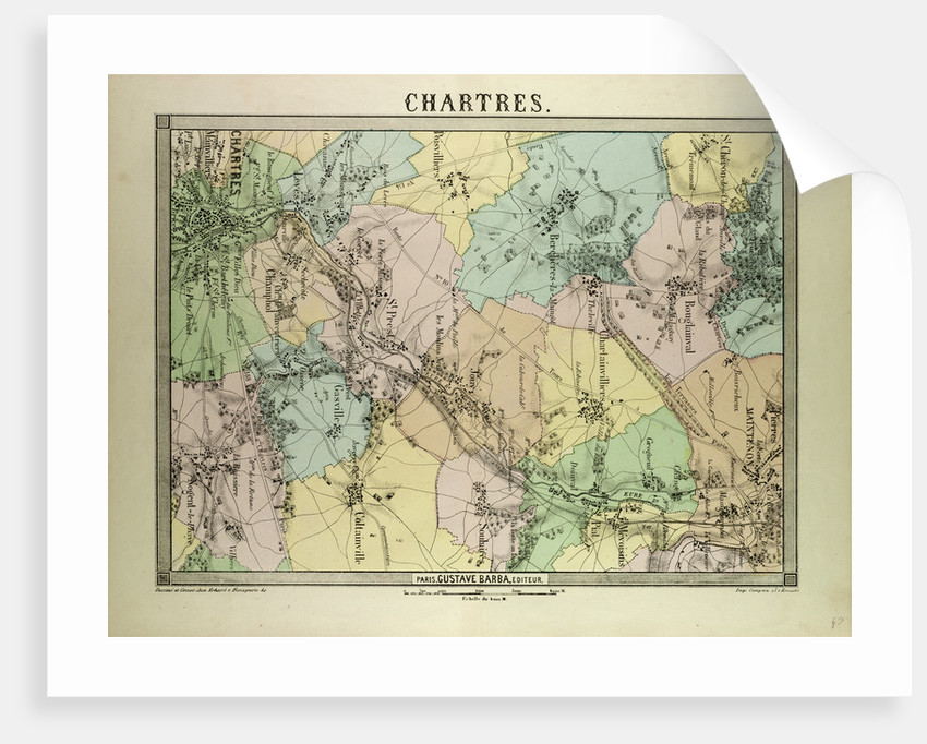 Map of Chartres France by Anonymous