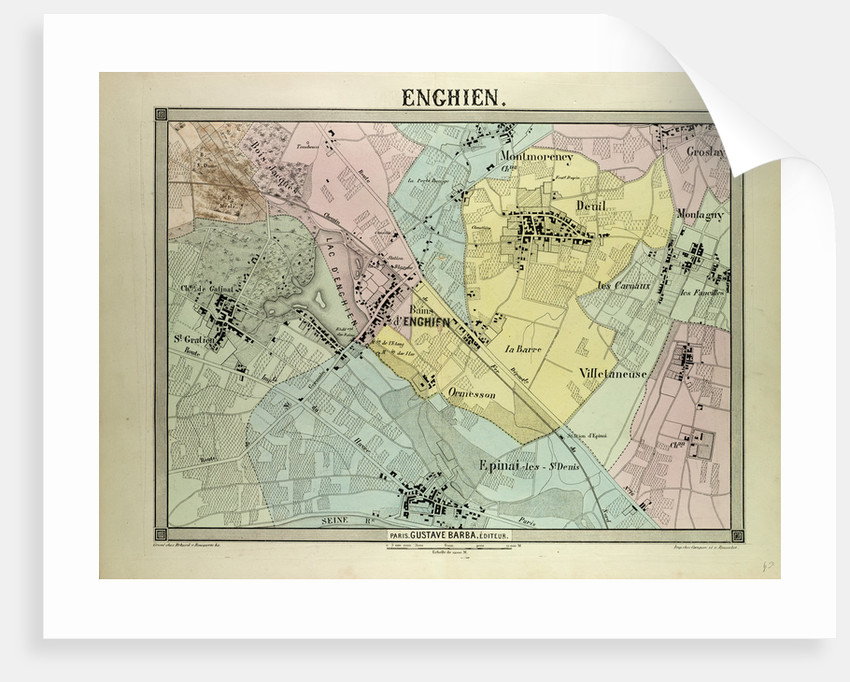 Map of Enghien France by Anonymous