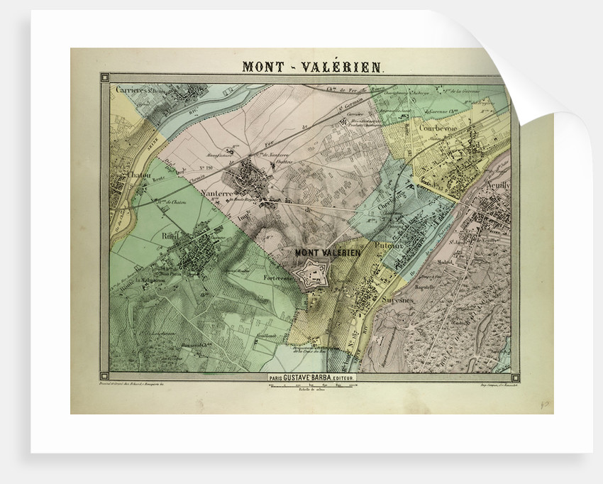 Map of Mont-Valérien France by Anonymous