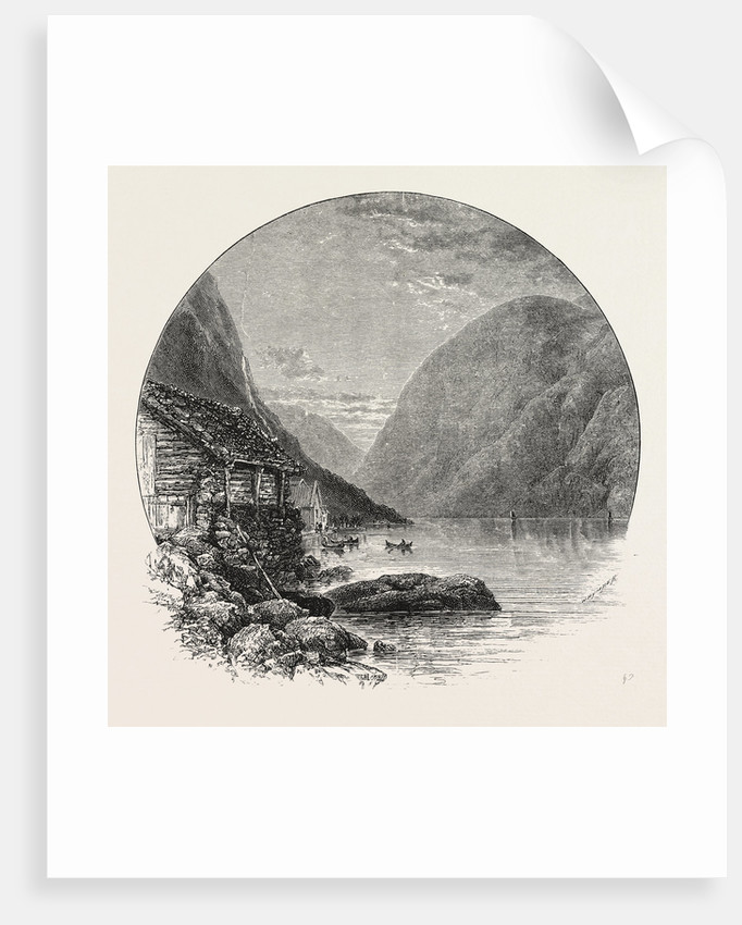 Gudvangen and the Naerö Fjord by Anonymous