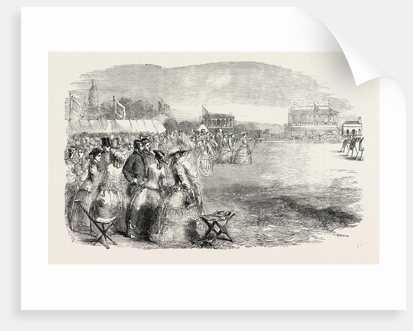 Grand National Archery Meeting on the Race- Ground Shrewsbury by Anonymous