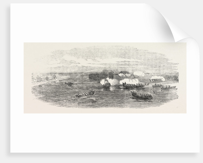 Boat Attack at the Sulineh Mouth of the Danube 1854 by Anonymous