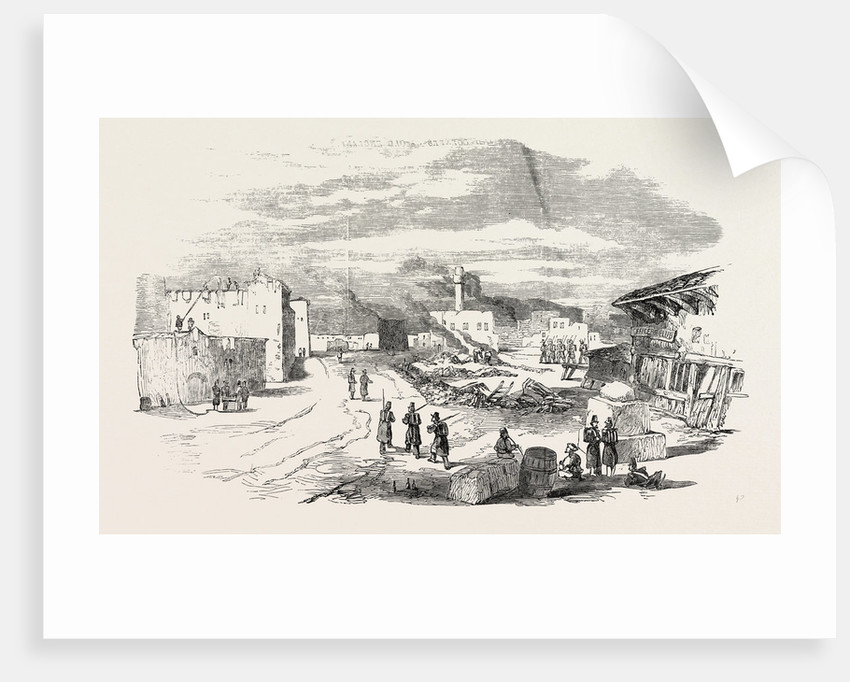 Ruins at Varna after the Fire 1854 by Anonymous