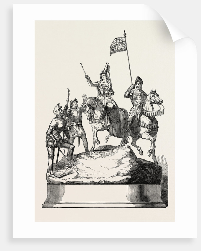 The Doncaster Race Plate 1854 Queen Philippa Before the Battle of Neville's Cross by Anonymous