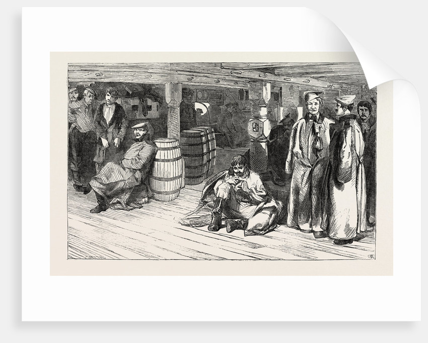 Russian Prisoners at Sheerness: The Devonshire. Russian Prisoners Between Decks 1854 by Anonymous
