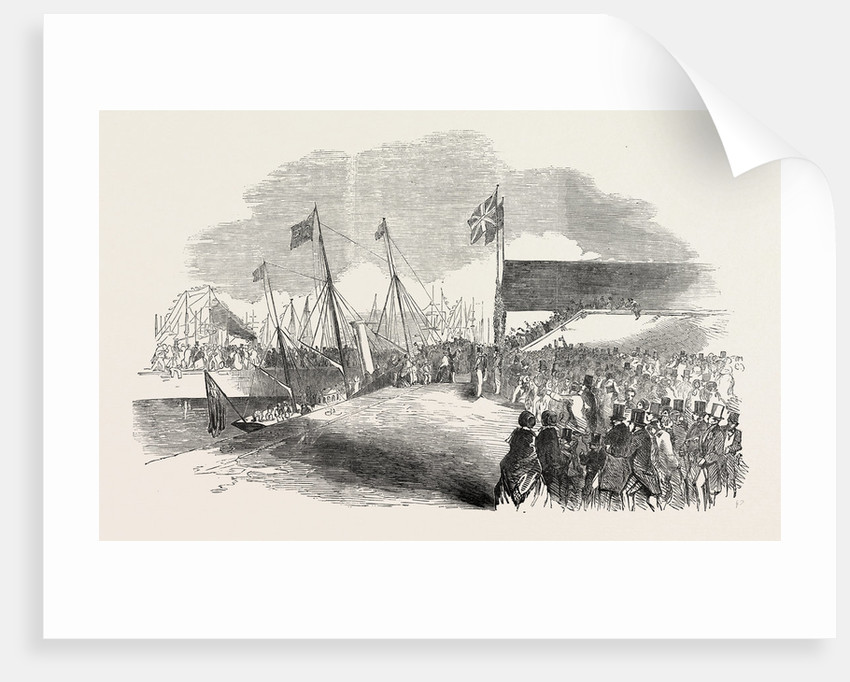 Her Majesty's Visit to Hull and Grimsby: Her Majesty Landing at Grimsby 1854 by Anonymous