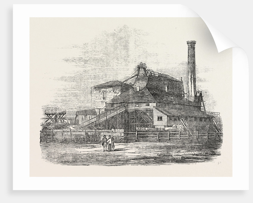 Mouth of the Harton Coal-Pit South Shields 1854 by Anonymous