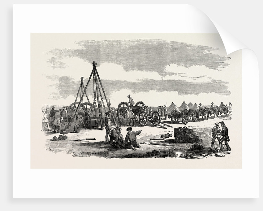 The Crimean War: Siege of Sebastopol: Preparing a Train for the Trenches 1854 by Anonymous