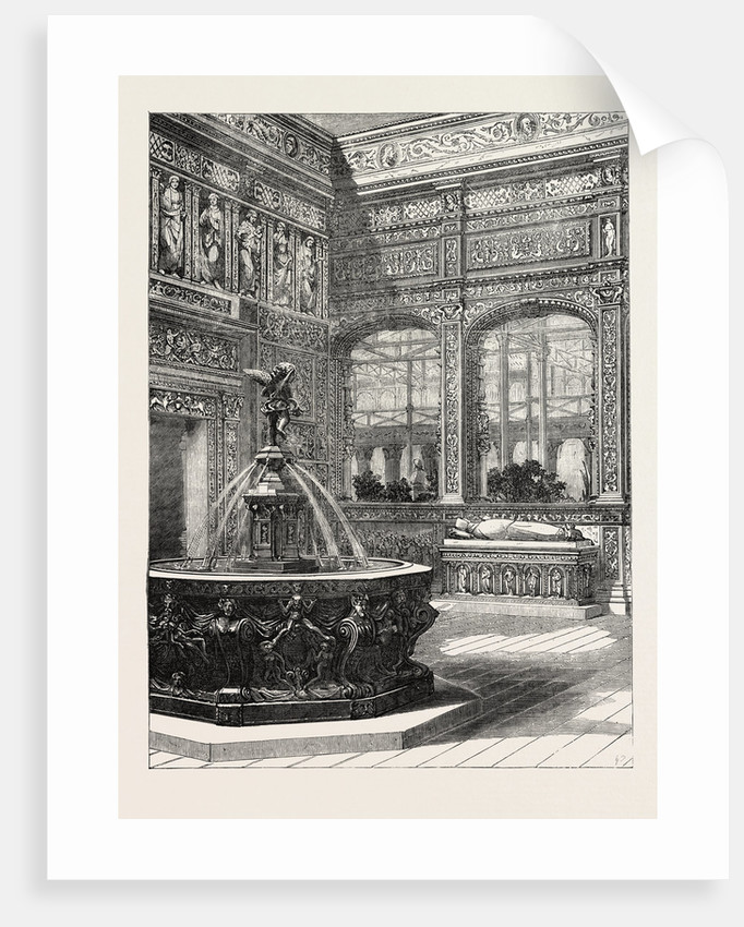 The Renaissance Court at the Crystal Palace Sydenham UK 1854 by Anonymous
