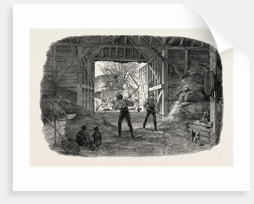 Agricultural Pictures: Thrashing, 1846 by Anonymous