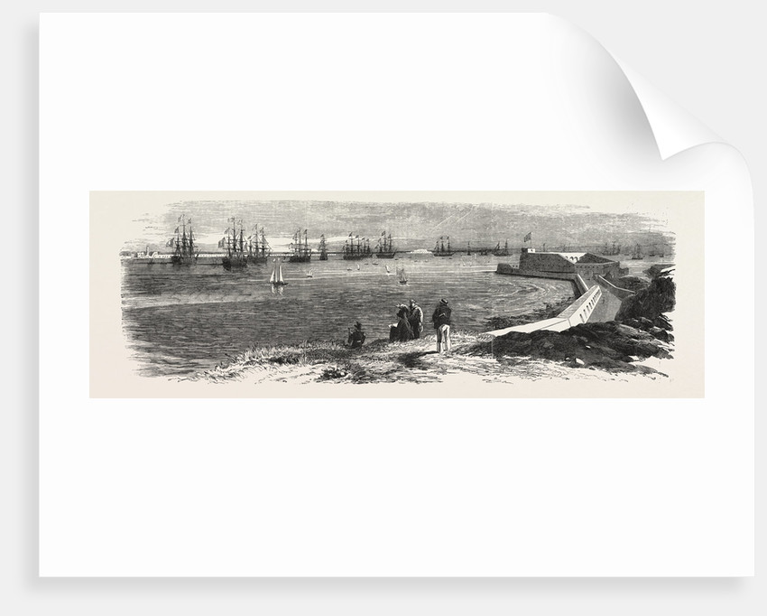 Cherbourg Roads: Mooring-Ground for Men of-War, 1858 by Anonymous