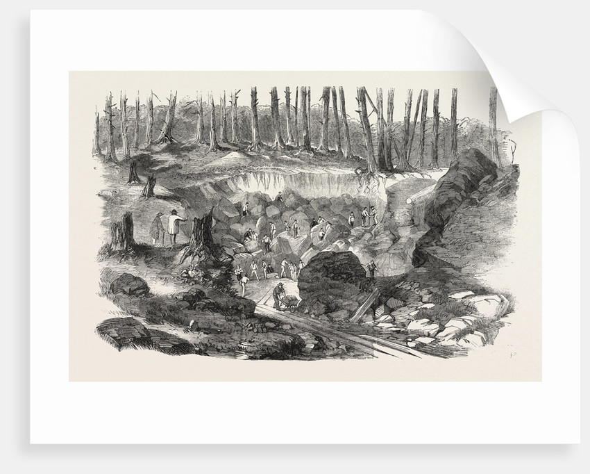 Copper Mine or Quarry, Near Montreal, Canada, 1860 by Anonymous