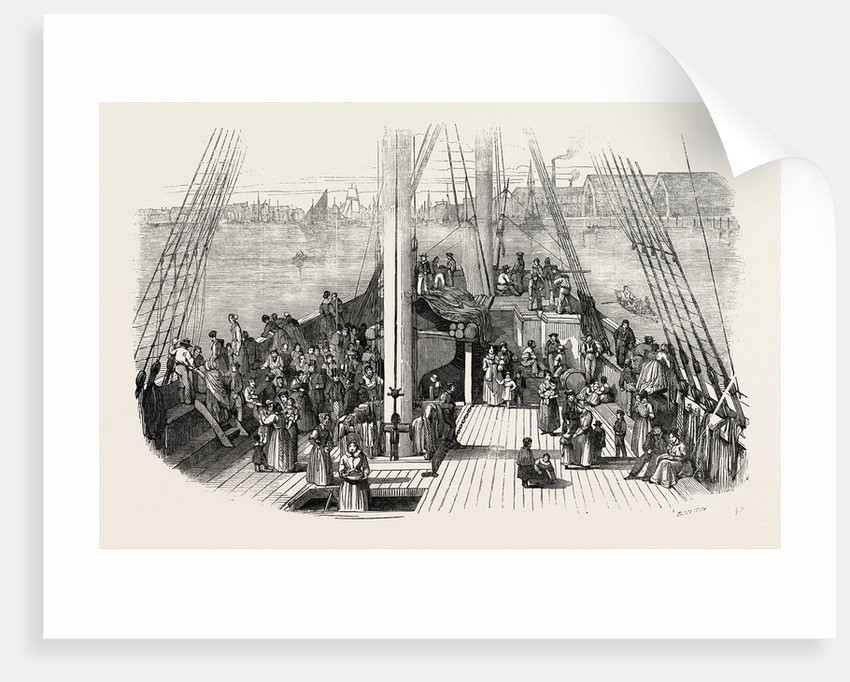 Deck of the Artemisia. Emigrants on Board. 1848 by Anonymous