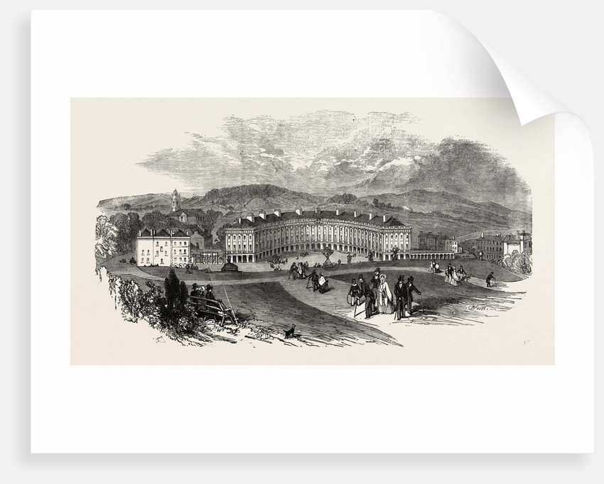 Buxton, the Crescent, New Baths, 1854 by Anonymous