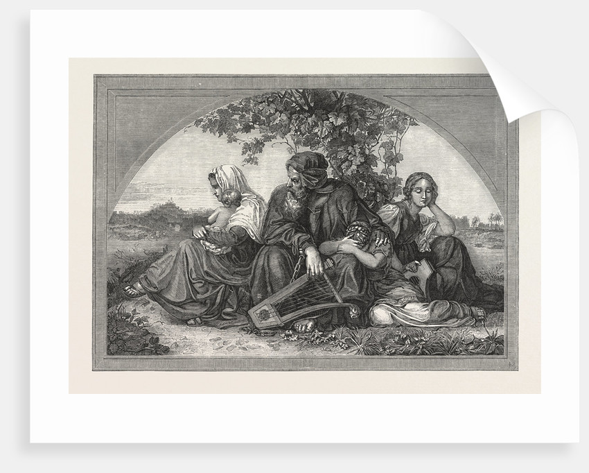 Captive Jews by the Waters of Babylon. 1850 by Anonymous