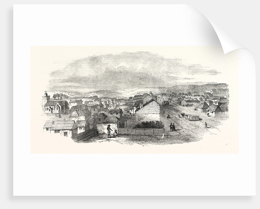 Adelaide, South Australia, from Hindley Street, 1850 by Anonymous