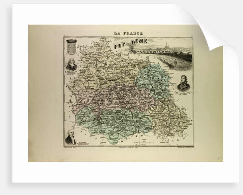Map of Puy De Dôme by Anonymous