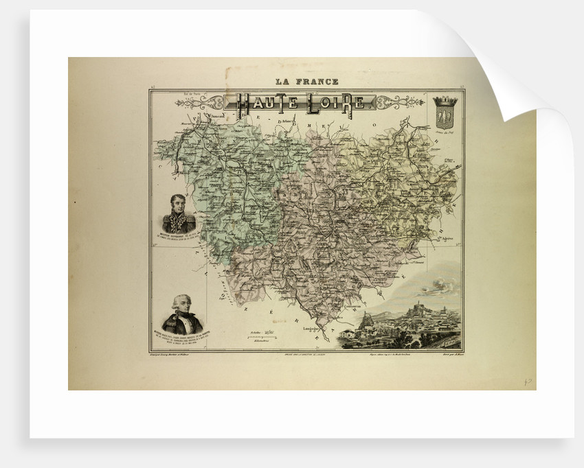 Map of Haute Loire by Anonymous
