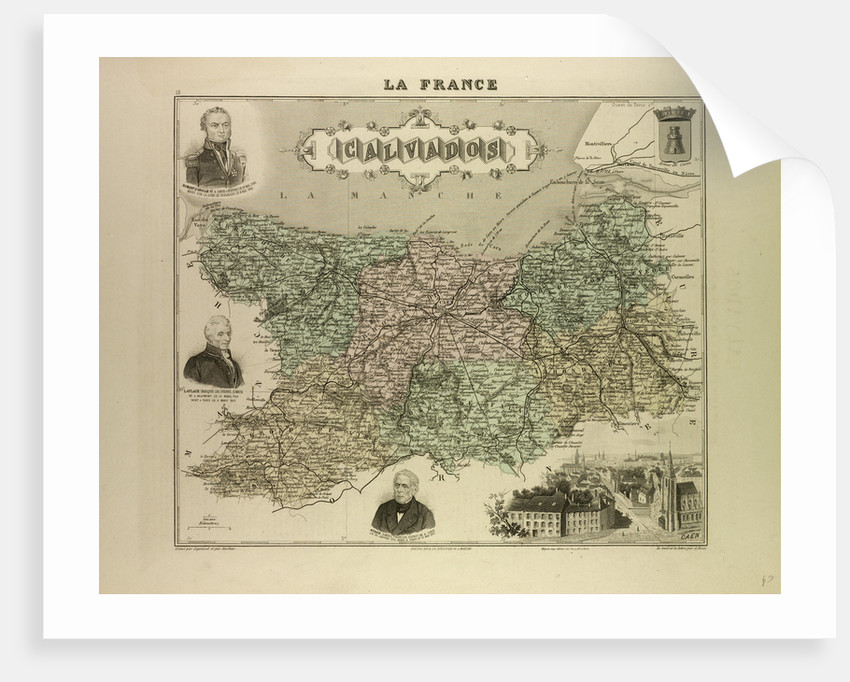 Map of Calvados by Anonymous